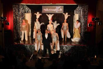 'Blue Pineapple Club' finale, showing effective use of the stage.