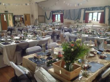 Beautifully decorated for a wedding